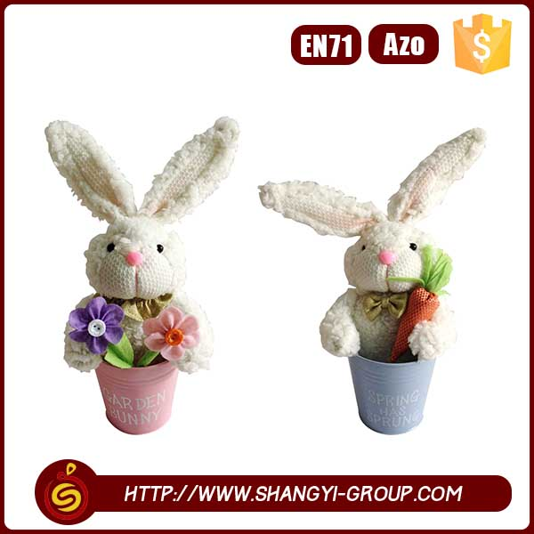 2016 Best selling fashion lovely easter day decor kids gift rabbit toy