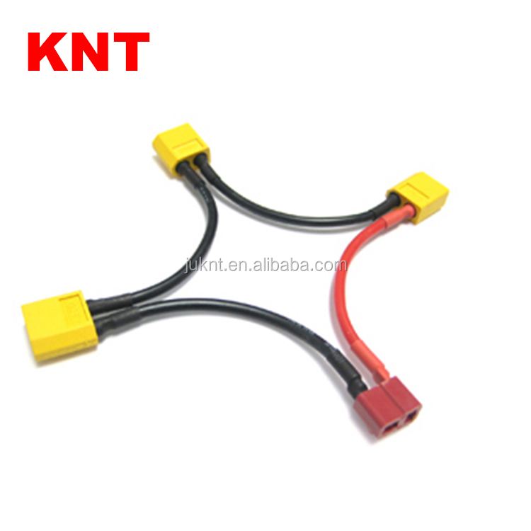 KNT T Plug Battery Harness For 3 Packs in Series Battery Connector Deans Female to XT60 Male Adapter