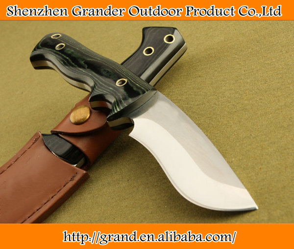 Micarta handle Survival Knife 7Cr17 steel hunting camping rescue tactical movie famous knife 5267