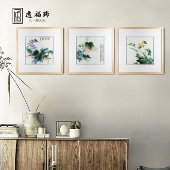 Rural Scenery Handmade Silk Art Embroidery Interior Decorative Wall  Painting For Bedroom - Buy Scenery Painting,Wall Hanging Paintings,3 Panels  ...