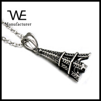 Fashion Architecture Men's Artistic Engraved Stainless Steel Pyramid Pendant Gifts Made Of Steel