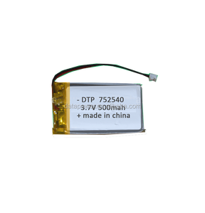 Popular Rechargeable 3.7 volts 752540 Mini Lithium Polymer Battery 3.7v 500mah Custom Size Lipo