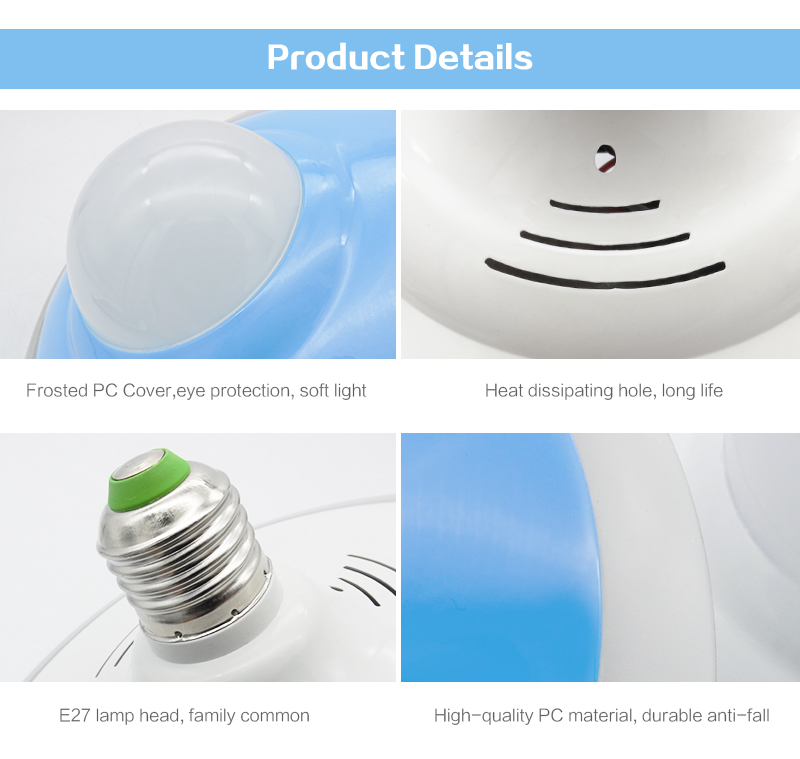 2018 Newest UFO E27 LED Bulb With white/black/gree/blue/yellow Color