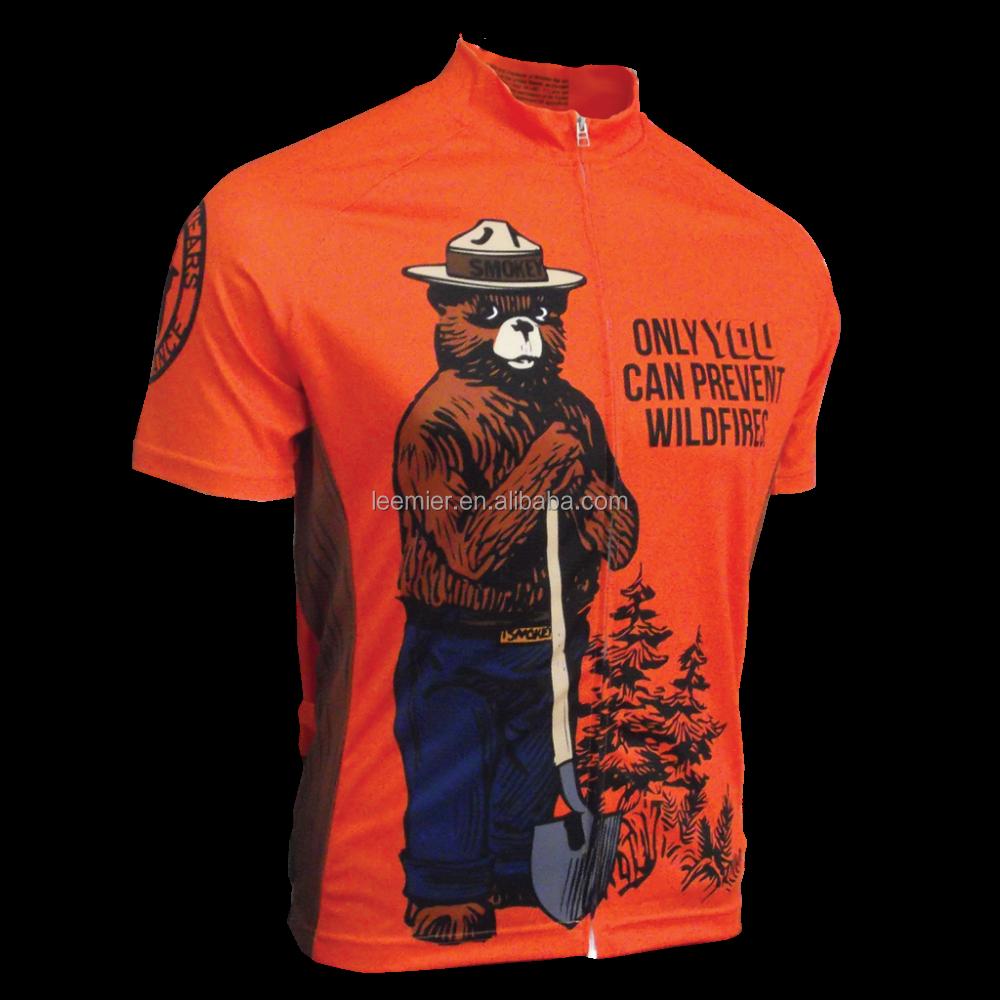 Smokey Bear jersey Bike Racing shirts Cycle Outdoor Wear Custom Racing  Cycling Jersey d65d1c41b