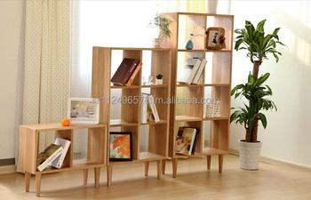 Scandinavian And Contemporary Modern Oak Wooden Bookshelf
