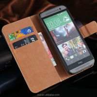 Luxury Mobile Phone Genuine Leather Case Cover for HTC ONE M8 Card Pouch Stand Holder RCD03888