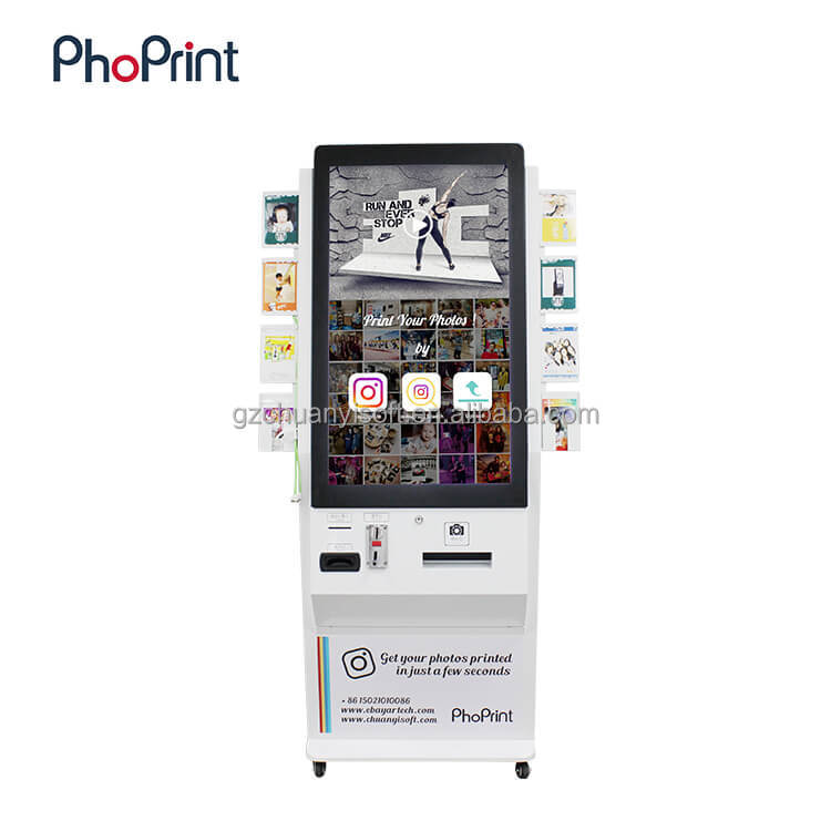 OEM 42 Inch Stand Alone Good Quality lcd touch screen kiosk pc photo branding OEM booth enclosure