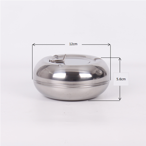 Sanding Surface Round ashtray Stainless Steel Beach windproof Ashtray for Smoking people