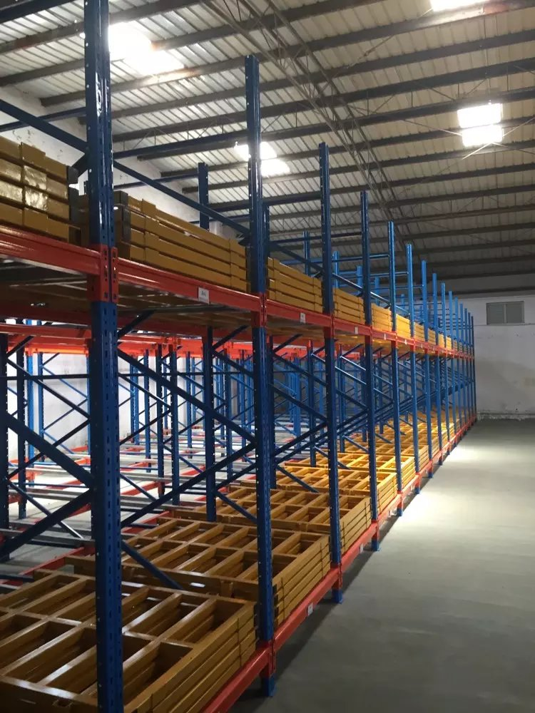 Top Push-back Shelving Movable Shelf System Warehouse Pallet Rack