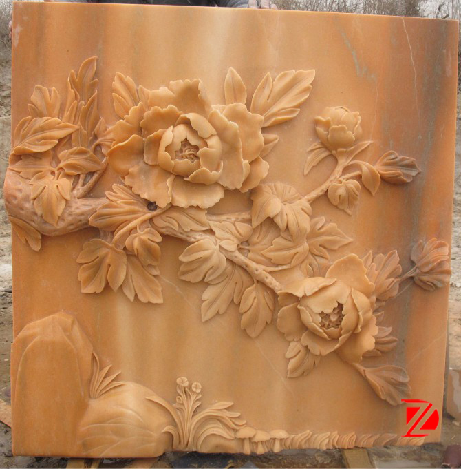 Artificial Stone Flower Relief Sculpture Buy Stone