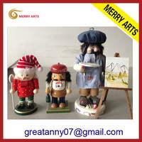 JInhua yiwu market new products online selling Germany nutcracker tool wooden dolls craft