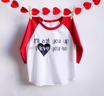 Valentines Day Toddler Girl T Shirts Cotton Long Sleeve Printing