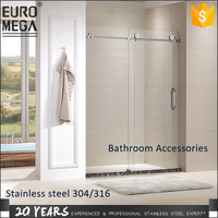 Professional Interior Shower Rooms & Accessories 304 316 stainless steel Shower bath doors sliding glass door