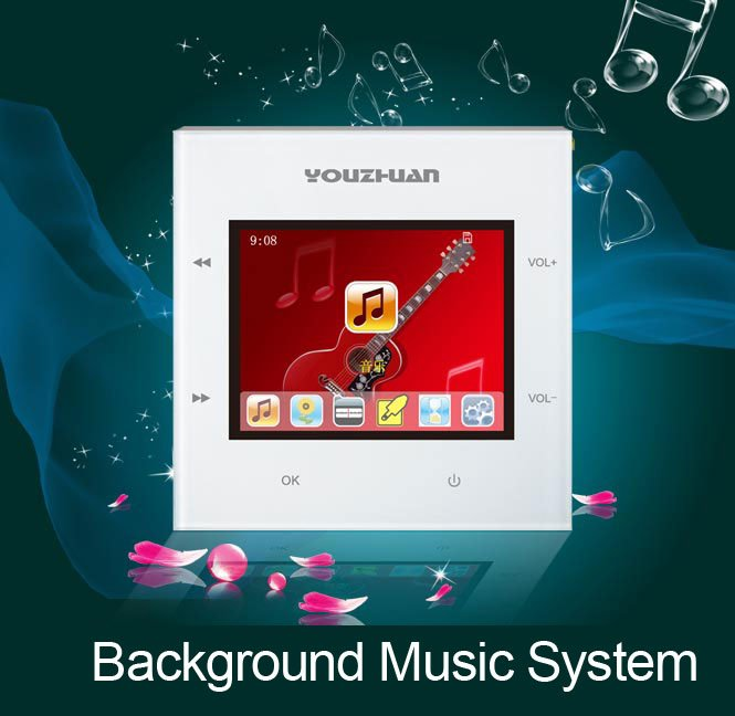 Home Background Music Control Usb Ci Card Wall Speaker