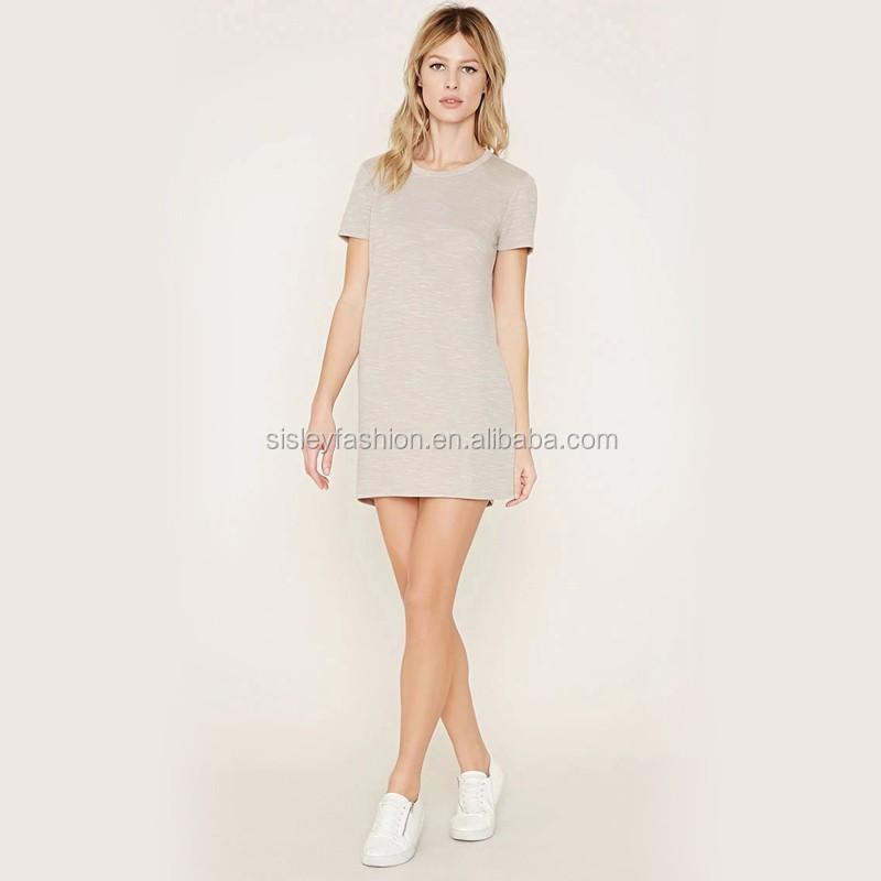 d3d5b75fd Mujeres T camisa vestido de las señoras de moda diseño vestido para baile  de graduación camiseta