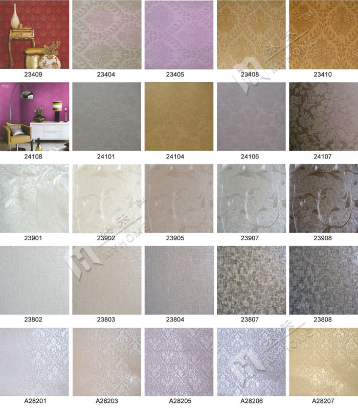 23808 Cheap decoration project hotel wall coverings