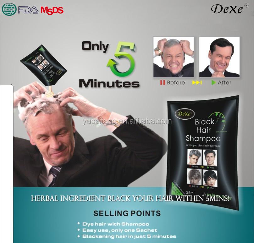 Natural Herbal Formula Dexe Black Hair Dye Shampoo Cover Grey Hair - Buy  Black Hair Shampoo,Herbal Black Hair Shampoo,Hair Dye Shampoo Product on ...