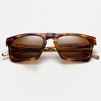Hot Sale 2018 Square Cool Metal Temple Best Brand Sunglasses Men