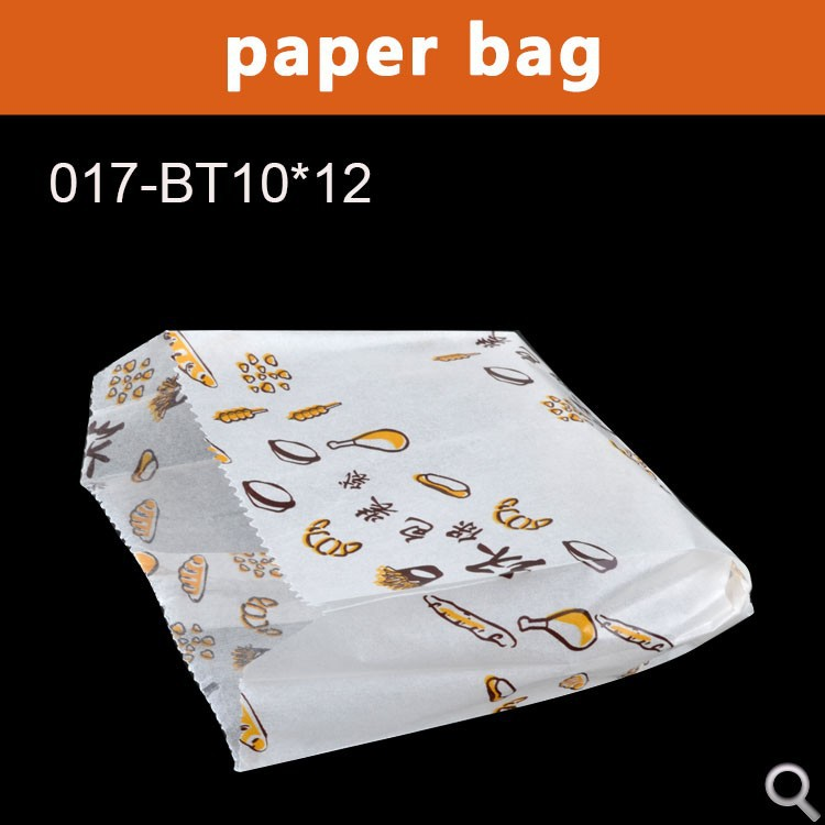 BAKEST 10*12cm white translucence <strong>chips</strong> paper bag