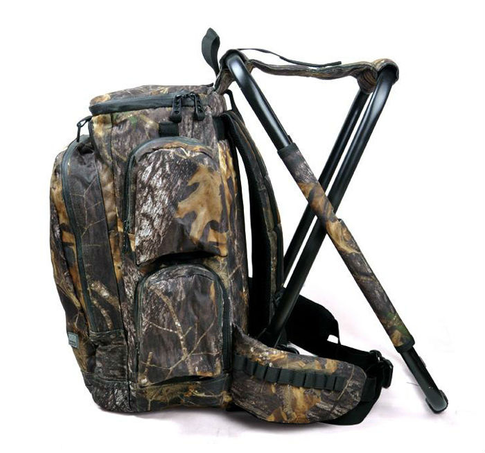 Outdoor camouflage backpack folding chair for hunting sports