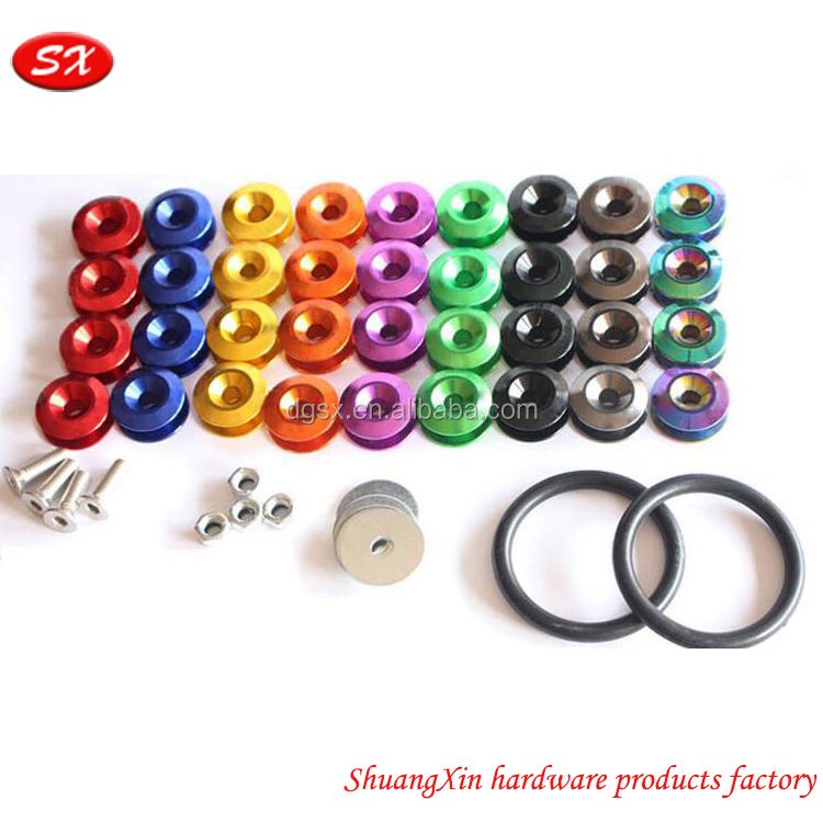 custom Car Styling Universal Sticker Stickers Aluminum CNC Turning Fender Washer for License Plate Bolts