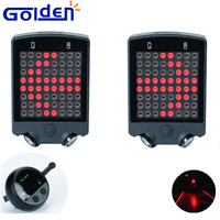 LED laser turn signal safety rear tail lamp usb rechargeable bike light