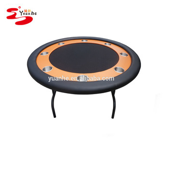 52u0026quot; Portable Folding Customized Round Card Game Tables Poker Tables ...