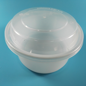 Disposable Microwave Safe Plastic Fish Bowl Straw Cup With Elastic