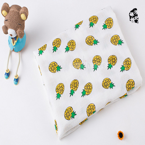 swaddle me organic cotton baby sleeping blanket with pineapple fruit design