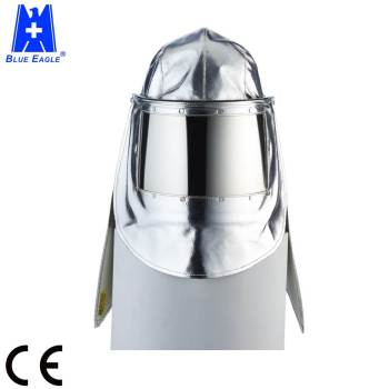 CE EN 11612 Flip-up visor heat resistant suit aluminized fire hood