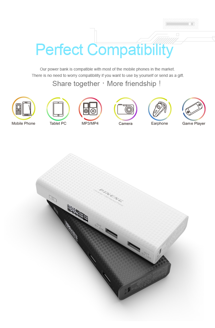 Unique portable fashion mini smartphone universal 10000mah Power Bank