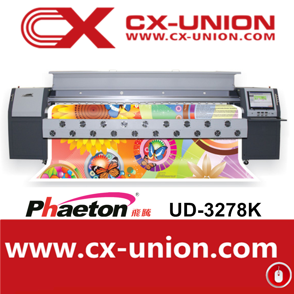 Phaeton UD-3278K spt510 50pl printheads industrial inkjet printer for wall mural