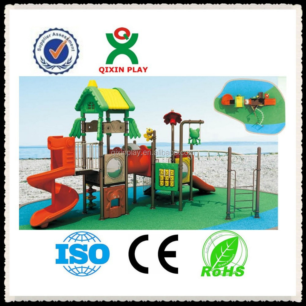 Guangzhou plastic used playground equipment for sale/high school musical 2 play script/chucky child's play QX-11018A