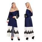 Custom Logo Arabic long sleeves party women Islamic gown muslim dress