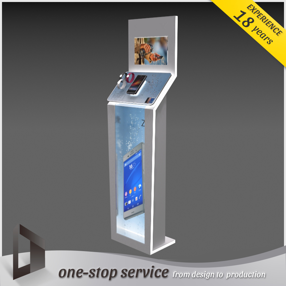 Factory Modern interior shop freestanding mobile phone display table
