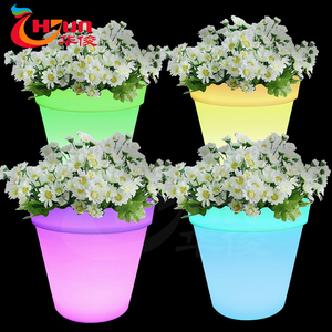 2018 Garden Decorative Large Led Flower Pot