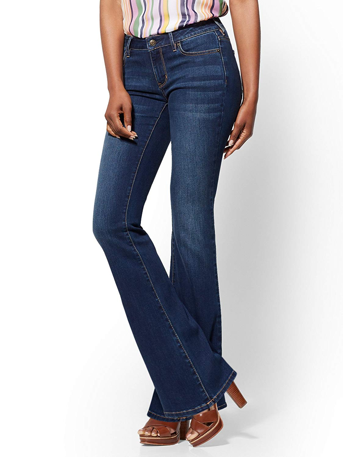 946cc46693f Get Quotations · New York & Co. Women's Soho Jeans - Tall Curvy Bootcut -  Flawless Blue Wash
