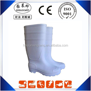 China Supplier Light PVC White Boots for Milk Industry