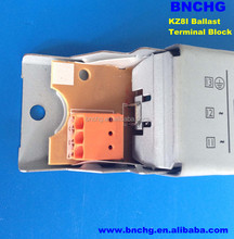 New Design 3 Pin Pitch 5.0mm screwless terminal connector for electronic ballast orange color 0.5~1.5mm2
