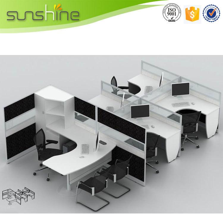 Cross Cheap Aluminum Office Partition, Modern Office Cubicles, Office Desk  For Call Center