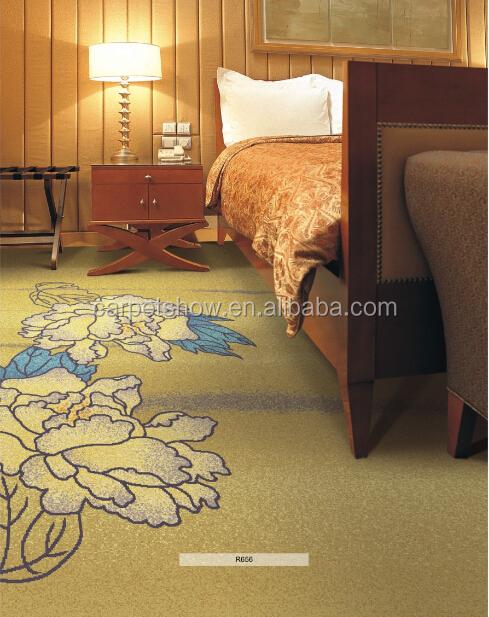 Stripe Pattern Axminster Carpet Wool Pattern Floral Carpet