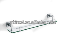 Chrome Holder Surface Finishing Corner Mounted Multi-function Glass Shelves KL-ZF341