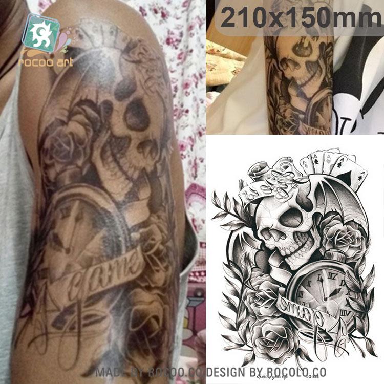 Lc833 Gran Brazo Tatuaje 2015 Reloj Craneo Tatuaje Temporal