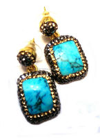 Druzy turquoise earring