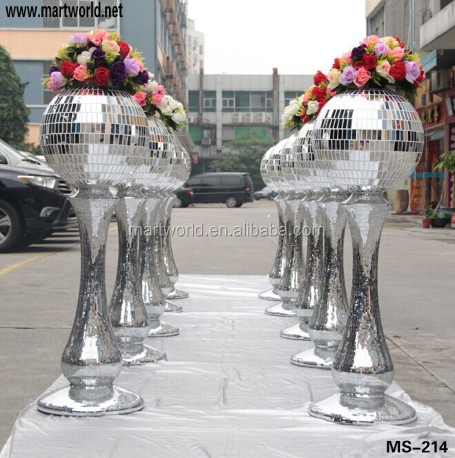 Unique Silver Wedding Decorative Pillars And Columns