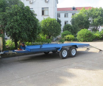 Car Trailer Winch >> Electric Winch Tipping Rear Loading Ramp Flatbed Car Transporting Trailer Buy Car Trailer Galvanized Utility Trailer Tipping Trailer Product On