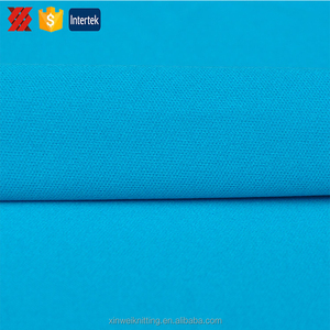 Knitted Plain Cationic 95 Polyester 5 Elastane Interlock Fabric for Soccer Jersey