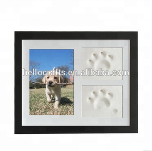 New 10% Off Pet paw print kit Dog or Cat Keepsake Photo Frame With Clay Imprint Kit