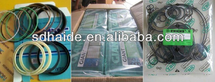 Service repair seal kits for Volvo excavator EC240B BUCKET HYDRAULIC CYLINDER REPAIR SEAL KITS
