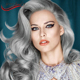cheap long curl 26inch 1b/grey gray ombre color synthetic wig lace front wig in miami